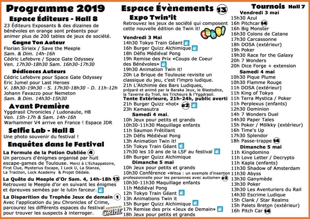 Programme Alchimie 2019